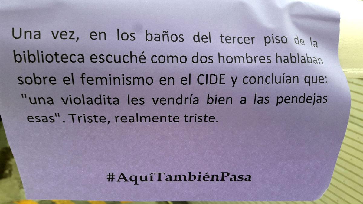 #AquíTambiénPasa, el grito de las universitarias contra el acoso sexual