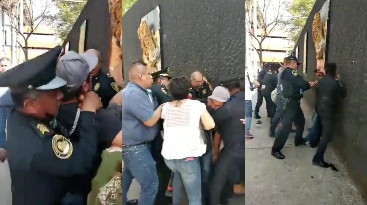 Policías de CDMX golpean a defensores de derechos humanos