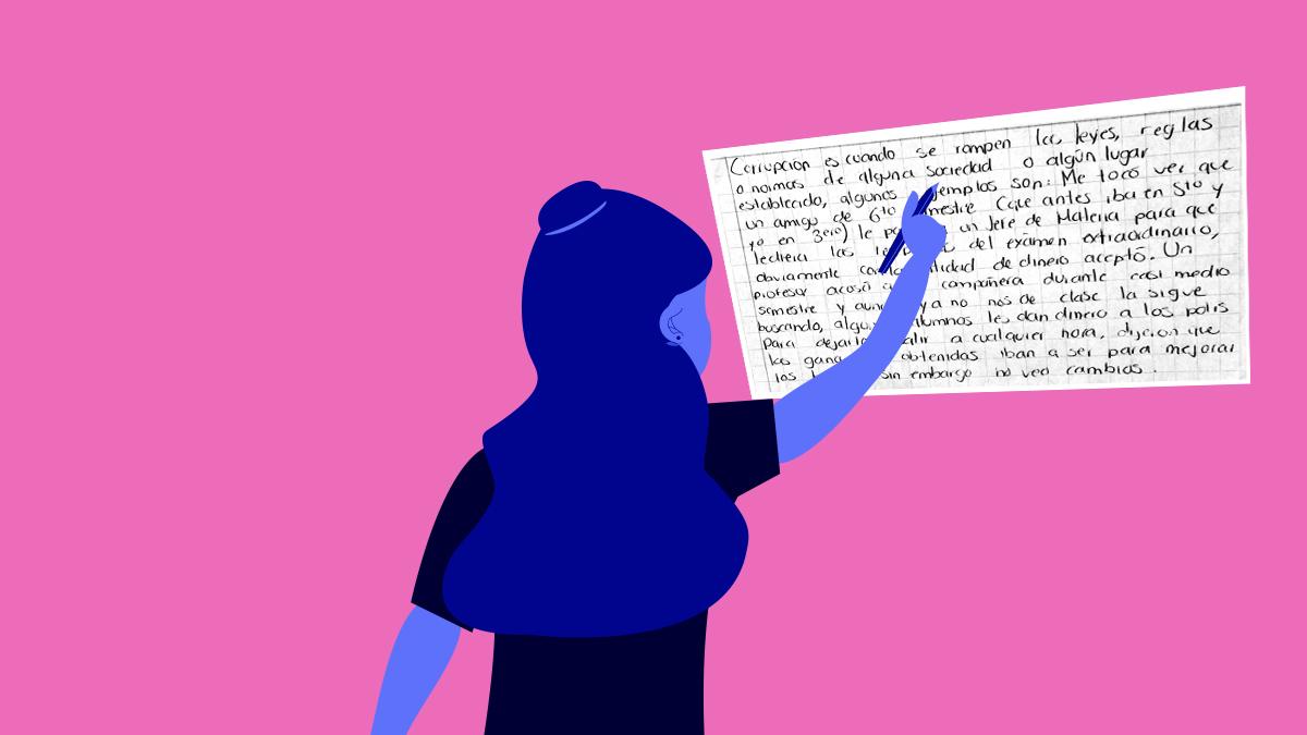 Estudiantes nos escriben sus historias de acoso y corrupción